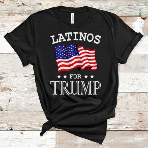 Original Novelty Latinos For Trump President American Flag shirt