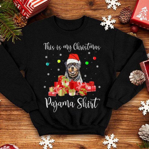 Premium This is My Christmas Pajama Santa Rottweiler Dog sweater