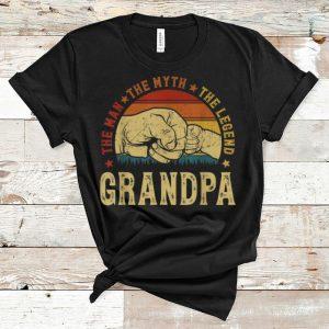Premium Vintage Grandpa The Man The Myth The Legend shirt