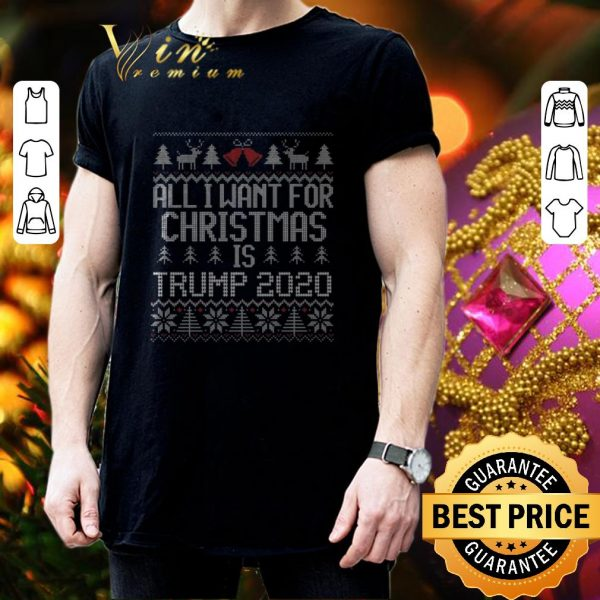 Pretty All I Want for Christmas is Trump 2020 ugly sweater