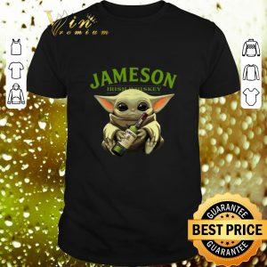 Pretty Baby Yoda hug Jameson Irish Whiskey shirt