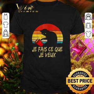Pretty Black Cat Je Fais Ce Que Je Veux Vintage shirt