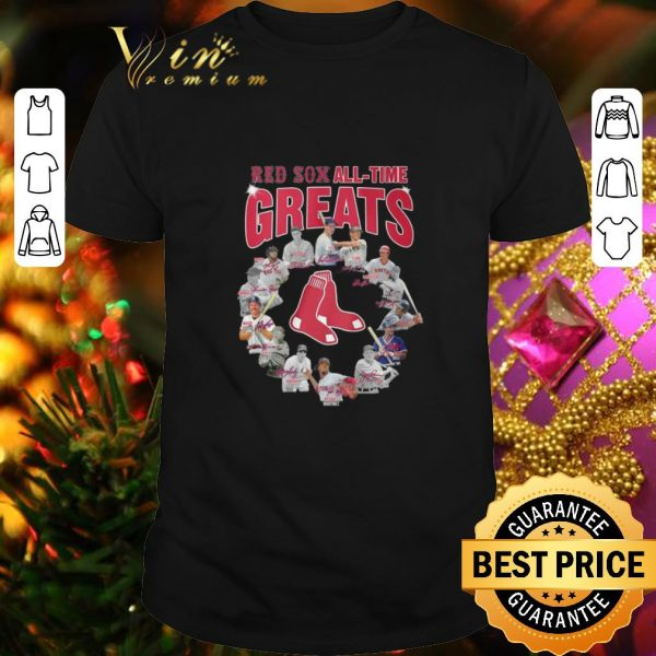 Pretty Boston Red Sox all time greats player signatures shirt