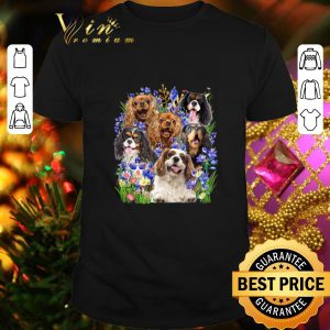 Pretty Cavalier King Charles Spaniel Purple Flowers shirt