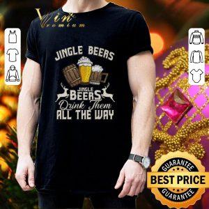 Pretty Christmas Jingle Beers Jingle Beers drink them all the way shirt 2