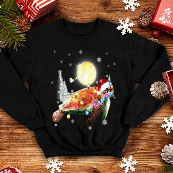 Pretty Sea Turtle Lover Christmas Like A Santa Animal Lover sweater
