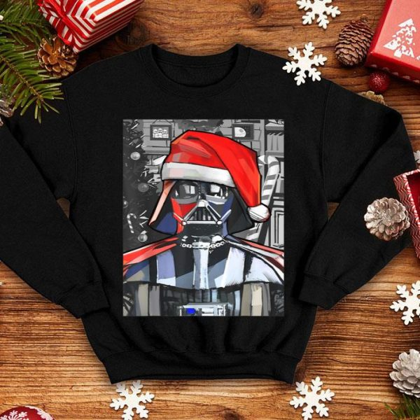 Pretty Star Wars Darth Vader Santa Hat Christmas Painting Poster sweater
