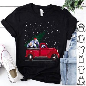 Top Red Truck pick up Elephant Animal Christmas lover gifts sweater