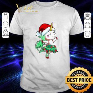 Top Santa Unicorn Christmas Tree Dance shirt