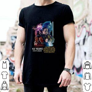 43 years Star Wars 1977 2020 all signature full characters shirt