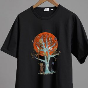 Awesome Baby Groots On Tree Blood Moon shirt