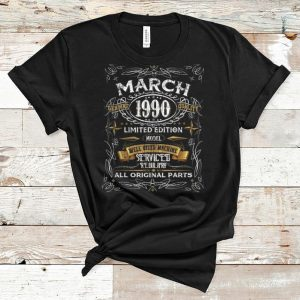 Nice Vintage March 1990 30th Birthday All Original Parts shirt