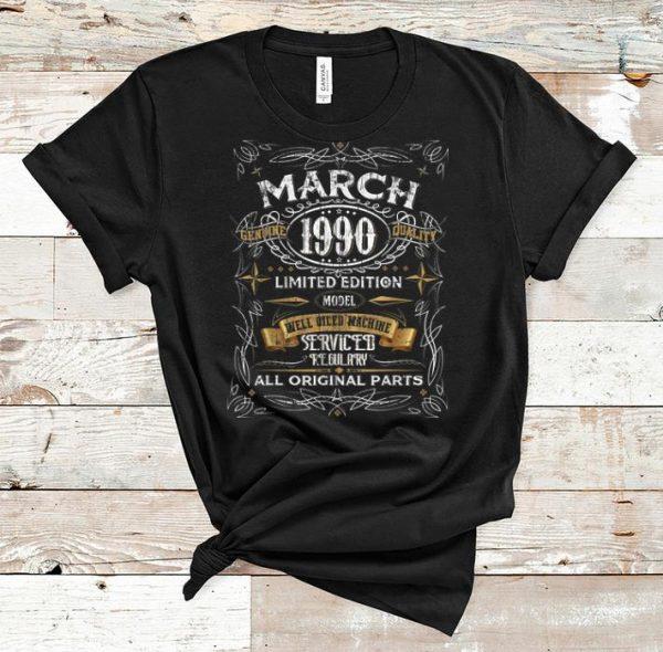 Nice Vintage March 1990 30th Birthday All Original Parts shirt