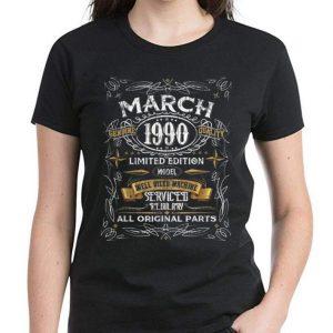 Nice Vintage March 1990 30th Birthday All Original Parts shirt 2