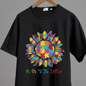 Original Autism Sunflower It's Ok To Be Different shirt