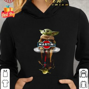 Awesome Baby Yoda reflection water mirror Master Yoda Martini Star Wars shirt 1