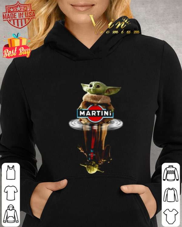Awesome Baby Yoda reflection water mirror Master Yoda Martini Star Wars shirt