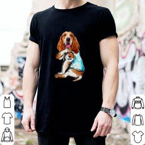 Awesome Basset Hound Tattoo I Love Mom shirt