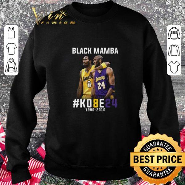 Awesome Kobe Bryant Black Mamba K08E24 1996 - 2016 Los Angeles Lakers shirt