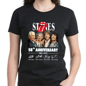 Awesome The Rolling Stone 58th Anniversary 1962-2020 Signatures shirt 2