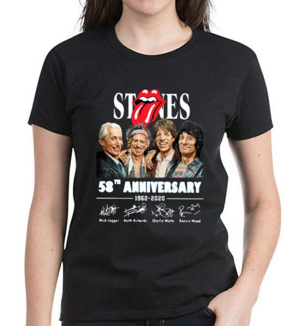 Awesome The Rolling Stone 58th Anniversary 1962-2020 Signatures shirt