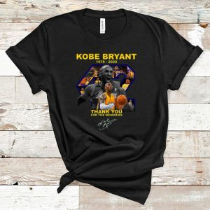 Great Rip Kobe Bryant Thank You For The Memories Signature shirt