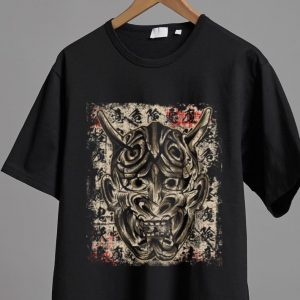 Hot Japanese Demon Yokai Hannya Mask shirt 1