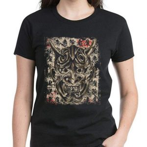 Hot Japanese Demon Yokai Hannya Mask shirt 2