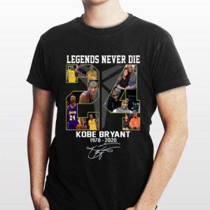 Legends Never Die Kobe Bryant's 1978 – 2020 Signatures shirt
