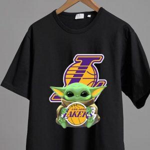 Nice Baby Yoda Hug Los Angeles Lakers shirt 1