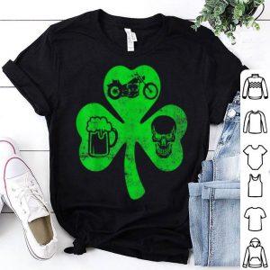 Official Motorcycle St Patricks Day Lucky Biker Beer Skull Gift shirt