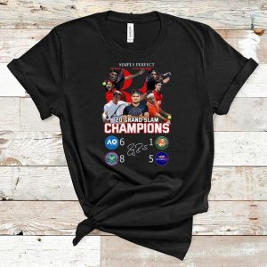 Original Simply Perfect Roger Federer Champions 20 Grand Slam signature shirt