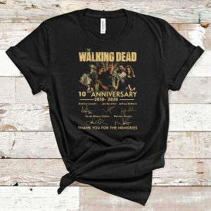 Original The Walking dead 10th anniversary 2010 2020 signatures thank you for the memories shirt
