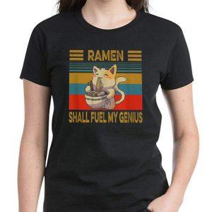 Premium Ramen Shall Fuel My Genius Anime Cat Lovers Vintage shirt 2