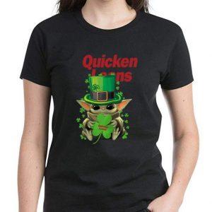 Premium Star Wars Baby Yoda Quicken Loans Shamrock St. Patrick's Day shirt 2