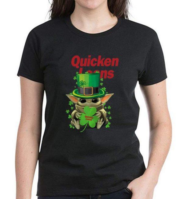 Premium Star Wars Baby Yoda Quicken Loans Shamrock St. Patrick's Day shirt