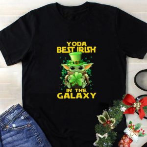 Pretty Baby Yoda Best Irish In The Galaxy St. Patrick's day shirt