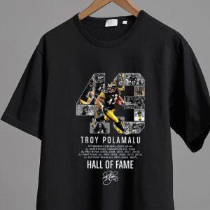 Top 43 Troy Polamalu Hall Of Fame Signature shirt