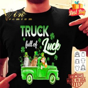 Truck Full of Luck Cats Leprechaun Funny St Patrick's Day shirt