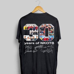 30 years of NKOTB signatures sweater