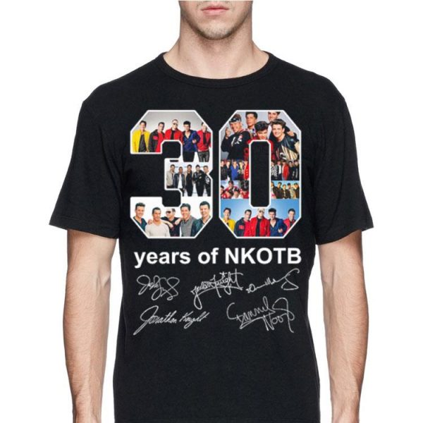 30 years of NKOTB signatures sweater