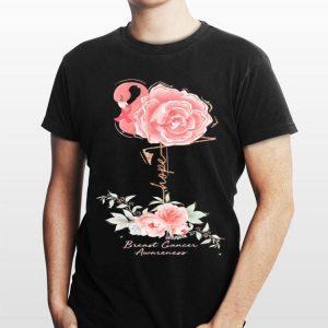 Flamingo Rose Hope Breast Cancer Awareness sweater