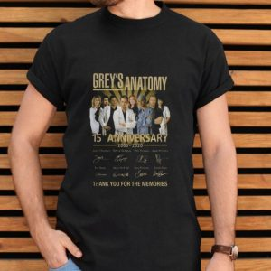 Greys Anatomy 15th Anniversary 2005 2020 Thank You For The Memories shirt