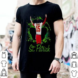 Kansas City Chiefs Patrick Mahomes 15 St. Patrick's day shirt