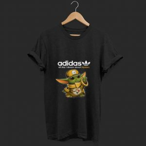 Baby Yoda Adidas All Day I Dream About Pittsburg Steelers Hoodie shirt