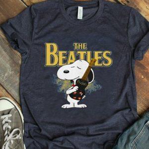 Snoopy Hug Guitar The Beatles Rock Band shirt