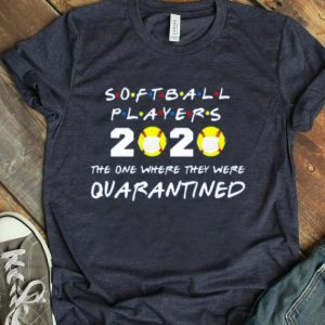 Softball Players 2020 Face Mask The One Where They Were Quarantined shirt