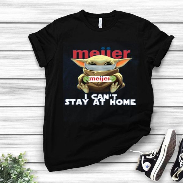 Nice Baby Yoda Face Mask Meijer Can't Stay At Home shirt