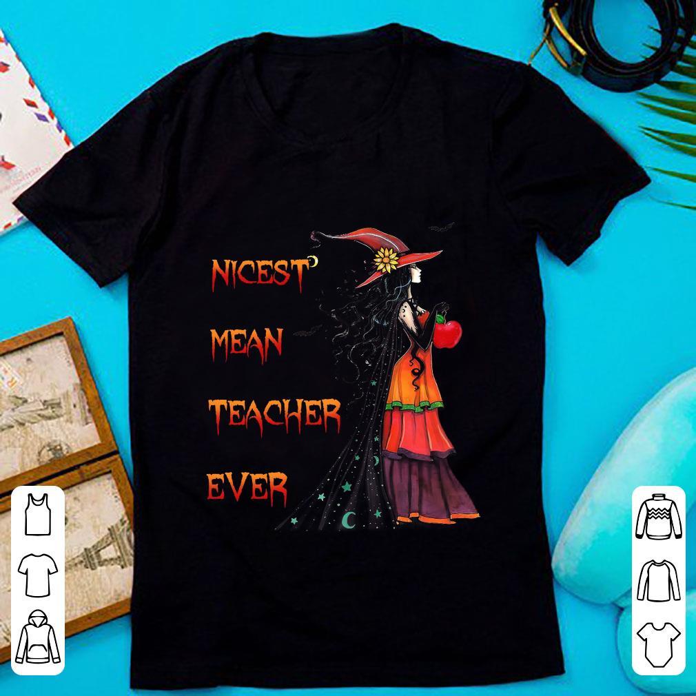 Awesome Nicest Mean Teacher Ever shirt