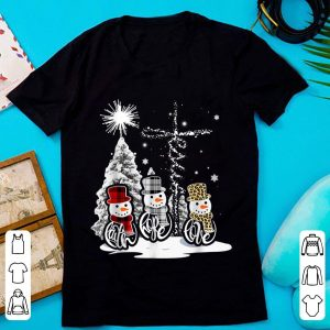 Awesome Jesus Faith Hope Love Snowman Xmas Christian shirt